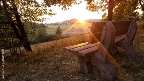 Fotografie, Obraz  Sonnenuntergang an einem idyllischen Plätzchen in der Natur