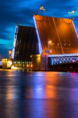 Fototapeta na wymiar Swing bridge in St. Petersburg...