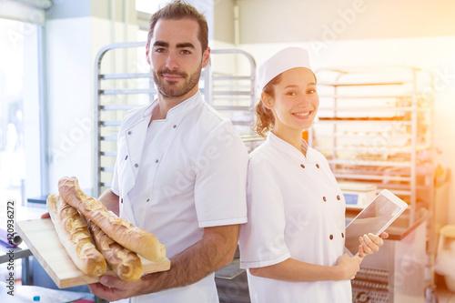In de dag Bakkerij Team of bakers working at the bakery