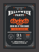 Halloween Night Party With Sca...