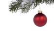 canvas print picture - Red ornament