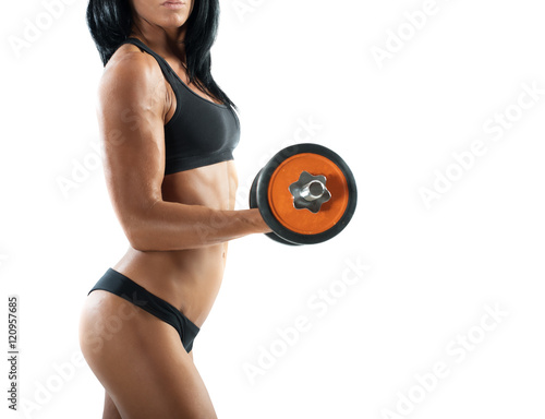 Sexy woman workout