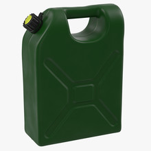 Green Petrol Jerry Can Isolate...