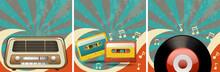 Retro Background Design With O...