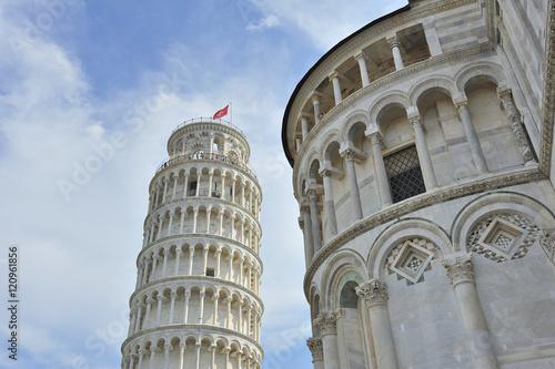 Poster Artistiek mon. Pisa, piazza dei Miracoli, Toscana