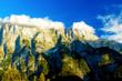 Beautiful alps landscape. Beautiful majestic mountain peaks.
