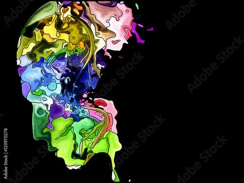 Foto op Plexiglas Unfolding of Self Fragmentation
