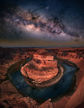 Horseshoe Bend With Milkyway