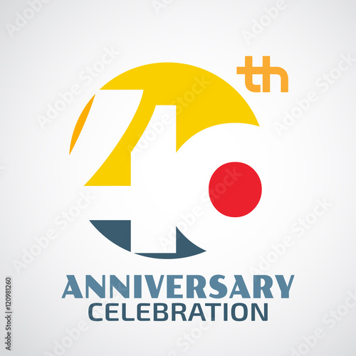 Fotografia  Template Logo40th anniversary with a circle and the number40 in