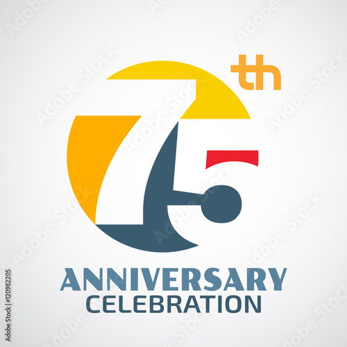 Template Logo 75th anniversary with a circle and the number 75 i Poster