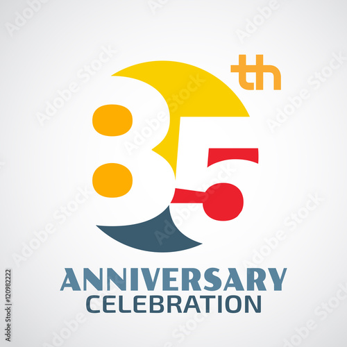 Fotografia  Template Logo 85th anniversary with a circle and the number 85ac