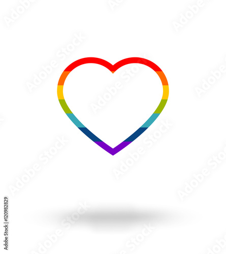 Lgbt Symbol Pride Freedom Heart In Rainbow Colors With Space For