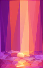 Pink And Orange Triangles Abstract Vector Poster Background