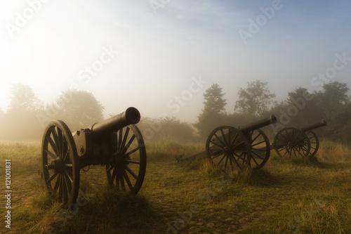 Fotografia, Obraz Cannon position at sunrise