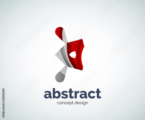 Photo Vector abstruse shape logo template