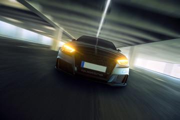 Obraz na płótnie Canvas schnelles Auto frontal