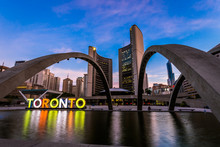View Of Toronto City Hall Building During Sunrise