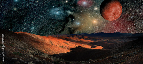 Aluminium Prints Universe mountains