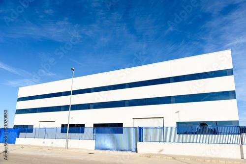 Tuinposter Industrial geb. Exterior industrial warehouse