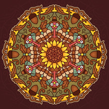 Thanksgiving Holiday Mandala
