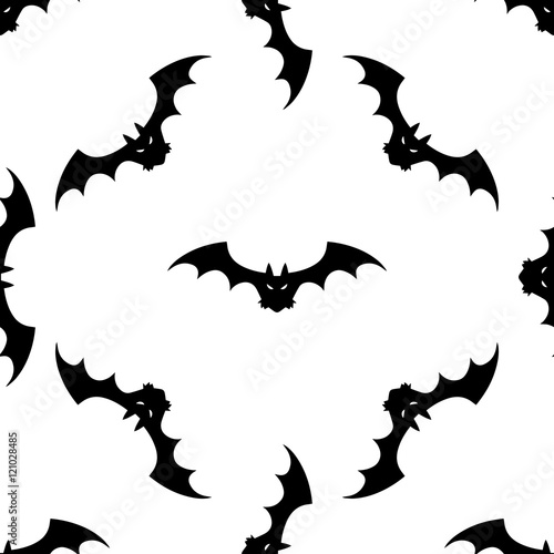 Seamless Pattern Design Bat Vector Graphics For Your Creativity The Idea Of Wring Paper A Gift Print On T Shirt