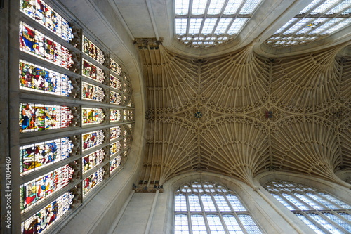 The Bath Abbey (Abbey Church of Saint Peter and Saint Paul) in Somerset, england Canvas Print