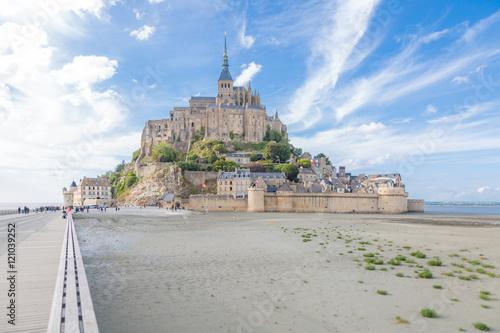 Mont Saint Michel at low tide Poster