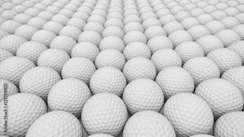 An ordered array of golf balls under neat studio lighting. Canvas-taulu