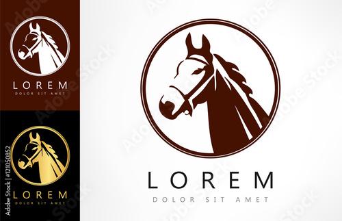Fotografie, Obraz  Horse logo. Vector illustration.