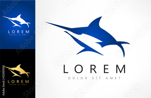 Marlin vector logo Canvas Print