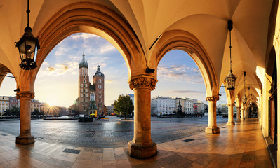 Fototapeta Kraków Krakow at sunrise, Poland.