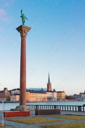 Photo  old town of Stockholm old town and Baltic sea, Sweden