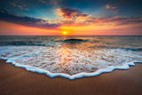Fototapeta See - Beautiful sunrise over the sea