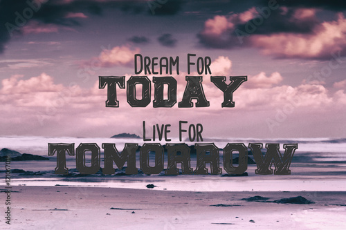 Poster Inspirerende boodschap Inspirational quote on a retro style background