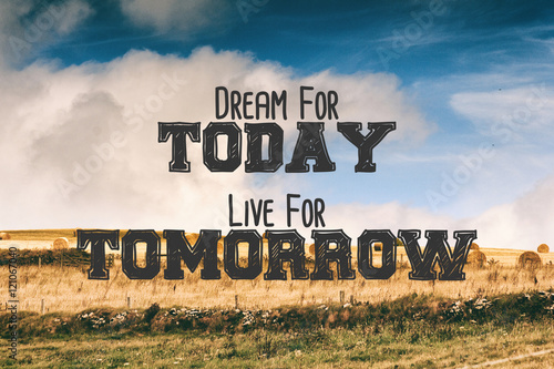 Foto op Canvas Inspirerende boodschap Inspirational quote on a retro style background