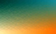 Polygonal Vector Mosaic - Yellow, Orange, Turquoise - Autumn Colors