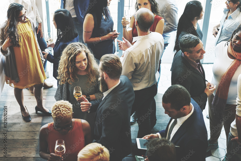 Fototapety, obrazy: Business People Meeting Eating Discussion Cuisine Party Concept