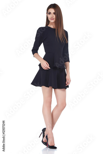 57baad212fba86 Beautiful sexy brunette woman business office style fashion - Buy ...