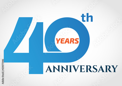 Poster  40 years anniversary logo design template