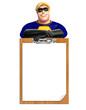 Superhero with Exam pad