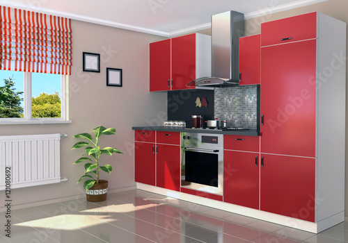 modern kitchen Poster