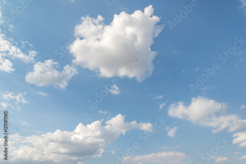Garden Poster Heaven Clouds and blue sky background