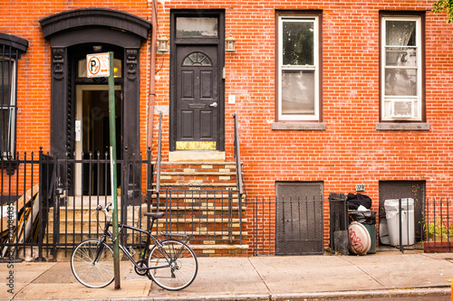 typical brownstone house
