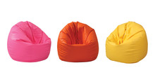 Colorful Beanbag Isolated On W...
