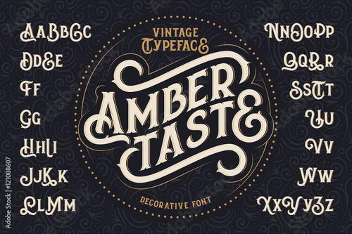Fototapeta Vintage decorative font named