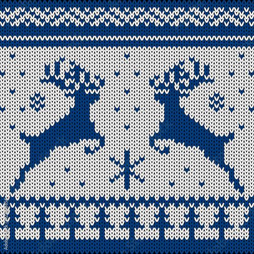 Stoffe zum Nähen Gestrickte skandinavischen ornament