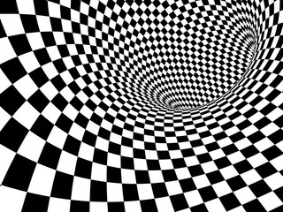Panel Szklany Abstract illusion
