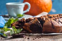 Pumpkin And Chocolate Swirl Brownies