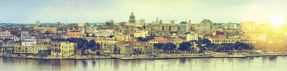 Fototapeta Miasta Wide panorama over Havana in Cuba