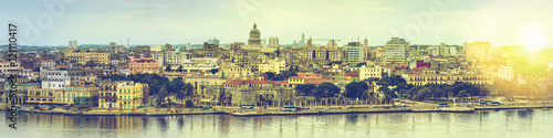 Foto auf Gartenposter Havanna Wide panorama over Havana in Cuba